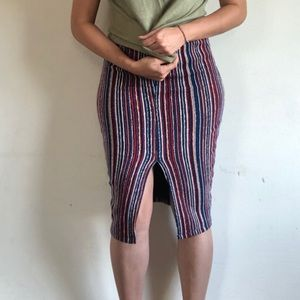 Vertical striped skirt